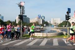 Maraton i Bucharest Arkivfoto