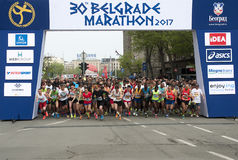 Maraton start-1 Royaltyfri Foto