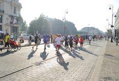 maraton warsaw Arkivfoto
