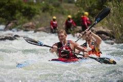 A maratona África do Sul da canoa de Dusi foto de stock