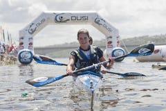 A maratona África do Sul da canoa de Dusi Fotos de Stock Royalty Free
