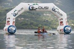 A maratona África do Sul da canoa de Dusi Fotografia de Stock Royalty Free