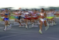 Maratona fotografia stock