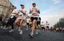 Maratona 2009 di Parigi Immagine Stock