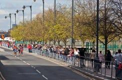 Maratona 2012 de Londres - Lel, Mutai, Tsegay, Worku Fotos de Stock Royalty Free
