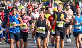Maratona autêntica clássica de Atenas Fotos de Stock Royalty Free