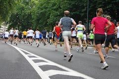 Maratona a Bruxelles Immagine Stock