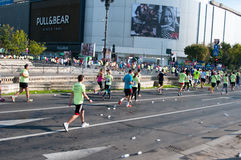 Maratona a Bucarest del centro Fotografia Stock Libera da Diritti