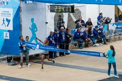 35a maratona clássica de Atenas, o autêntico foto de stock royalty free