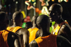 Maratona contingente africana de Standard Chartered Imagem de Stock