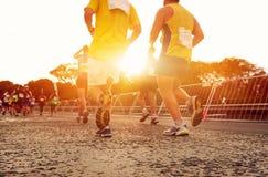 Maratona corrente della gente Fotografia Stock Libera da Diritti