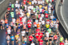 Maratona da cidade borrada Imagens de Stock