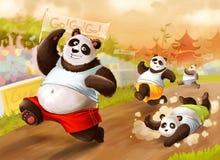 Maratona das pandas Foto de Stock