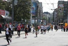 Maratona 2014 de Belgrado imagem de stock