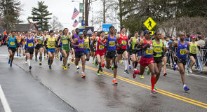 Maratona 2015 de Boston Fotos de Stock Royalty Free