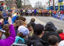 Maratona 2015 de Boston Foto de Stock