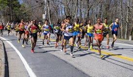 Maratona 2016 de Boston Fotos de Stock Royalty Free