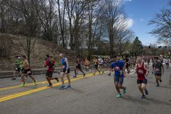 Maratona 2019 de Boston fotografia de stock
