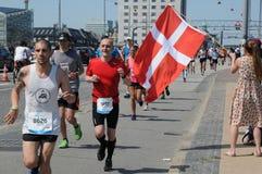 MARATONA 2018 DE COPENHAGA 42 ILIOMETER Fotos de Stock Royalty Free