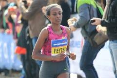 Maratona 2015 de Feyisa Lilesa - de Praga Foto de Stock Royalty Free