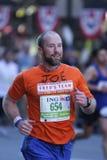 Maratona de ING New York City, corredor feliz Fotografia de Stock Royalty Free