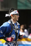 Maratona de ING New York City, formulário Japão do corredor Fotografia de Stock