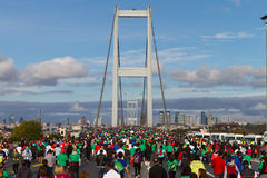 35a maratona de Istambul Eurasia Foto de Stock Royalty Free
