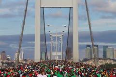 35a maratona de Istambul Eurasia Fotografia de Stock