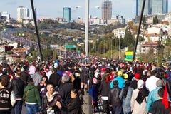 35a maratona de Istambul Eurasia Imagens de Stock Royalty Free