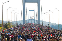 35a maratona de Istambul Eurasia Fotos de Stock