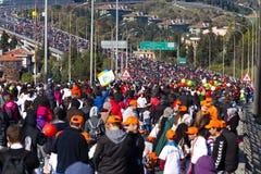 35a maratona de Istambul Eurasia Imagem de Stock