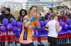 Maratona de Londres do dinheiro do Virgin 24 de abril de 2016 Imagem de Stock Royalty Free