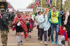 Maratona de Londres do dinheiro do Virgin 24 de abril de 2016 Foto de Stock