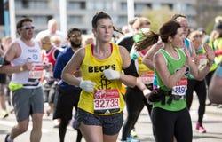 Maratona de Londres do dinheiro do Virgin, o 24 de abril de 2016 Foto de Stock