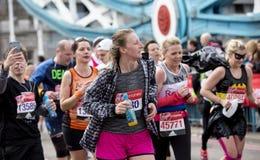 Maratona de Londres do dinheiro do Virgin, o 24 de abril de 2016 Fotografia de Stock