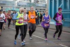 Maratona de Londres do dinheiro do Virgin, o 24 de abril de 2016 Fotografia de Stock Royalty Free