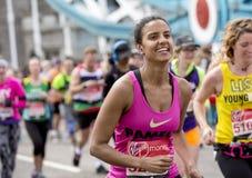 Maratona de Londres do dinheiro do Virgin, o 24 de abril de 2016 Fotos de Stock Royalty Free