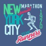 Maratona 2010 de New York City ilustração do vetor