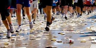 Maratona dei corridori Fotografia Stock