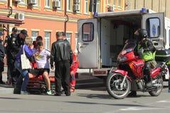 Maratona dell'ambulanza Fotografia Stock Libera da Diritti