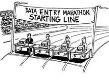 Maratona dell'entrata di dati Fotografia Stock Libera da Diritti