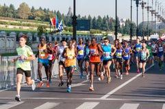 Maratona 2015 dell'internazionale di Bucarest Fotografia Stock