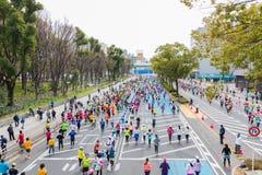 Maratona 2016 della città di Nagoya Fotografie Stock