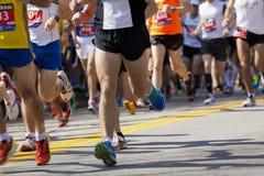 Maratona di Boston Immagini Stock