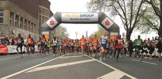 Maratona di Duesseldorf Immagini Stock