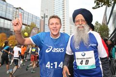 Maratona di Francoforte Immagine Stock
