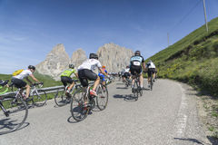 Maratona dles Dolomites Enel bycicle road race Stock Photo