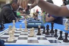 Maratona do competiam da xadrez Imagens de Stock Royalty Free