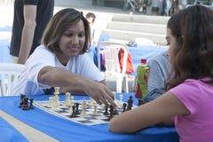 Maratona do competiam da xadrez Imagens de Stock