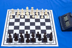 Maratona do competiam da xadrez Fotos de Stock Royalty Free